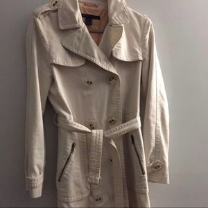 Marc Jacobs beige cotton trench coat Small
